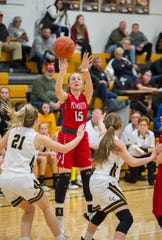 Plymouth's Halli Hall has the Lady Big Red at No. 11  in the Richland County Girls Basketball Power Poll.