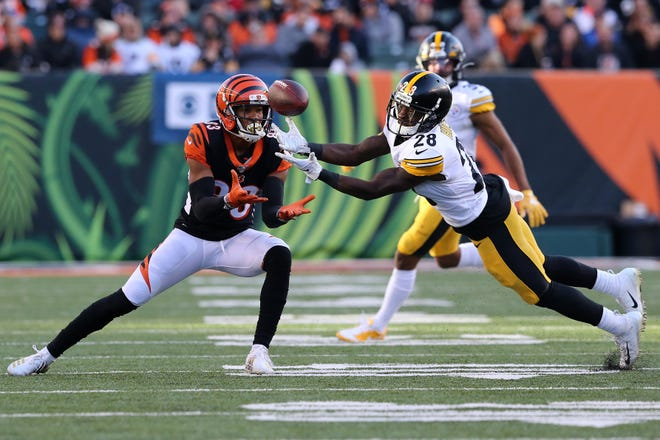 Cornerback Mike Hilton (28) signed with the Bengals on a four-year deal worth $24 million.