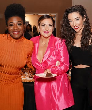 """Some of Broadway's brightest stars took the stage at SOPAC on Monday, Nov.18to lend their talents to a sold-out """"Broadway Rocks Cancer"""" fundraiser to benefit Summit Medical Group Foundation's Cancer Care Project. (Left to right)Nasia Thomas (""""Ain't Too Proud,"""" """"Beautiful""""), Shoshana Bean (""""Waitress,"""" """"Wicked,"""" """"Hairspray""""), and Ashley Loren (""""Moulin Rouge,"""" """"Jekyll & Hyde"""")."""