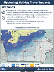 Winter conditions expected for the Thanksgiving 2019 holiday.