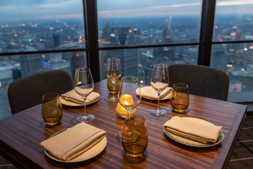 Astonishing Highlands Steakhouse Restaurant Opens Atop Detroit Pabps2019 Chair Design Images Pabps2019Com