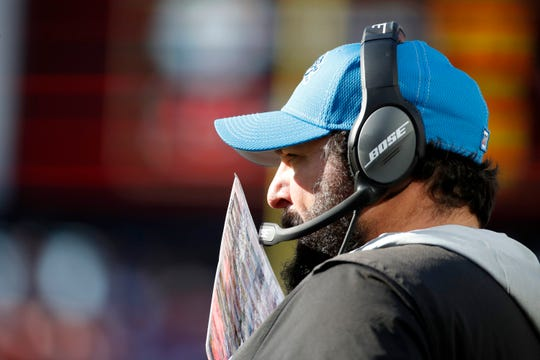 Lions head coach Matt Patricia