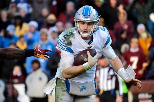 Detroit Lions quarterback Jeff Driskel during the second half.