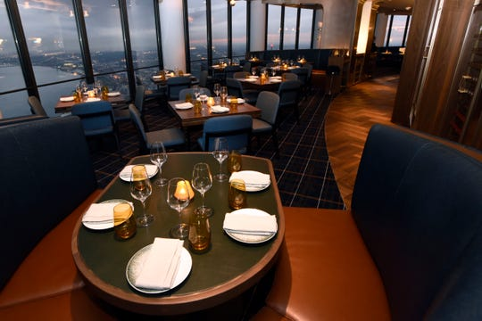 Dining area of Highlands, which opened Nov. 25 at the Renaissance Center in Detroit.