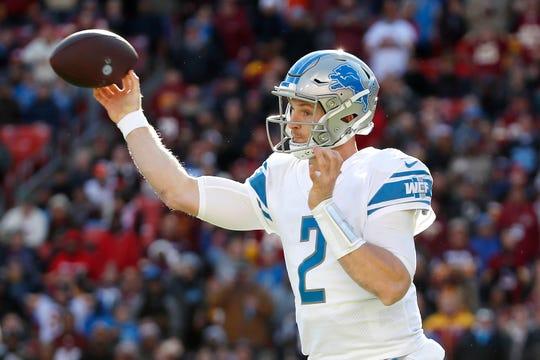 Detroit Lions quarterback Jeff Driskel is hampered by a hamstring ailment.