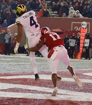With his 165 yards on six catches, Nico Collins now leads Michigan receivers with 649 yards.