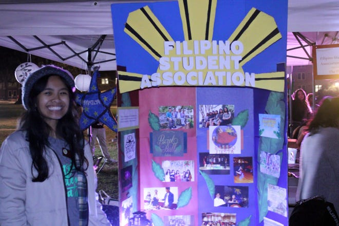 Member of Filipino Student Association at Passport to Asia event Landis Green on Tuesday Nov 19