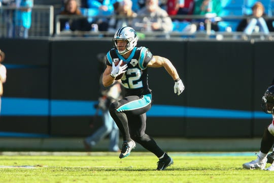 Carolina Panthers running back Christian McCaffrey (22)
