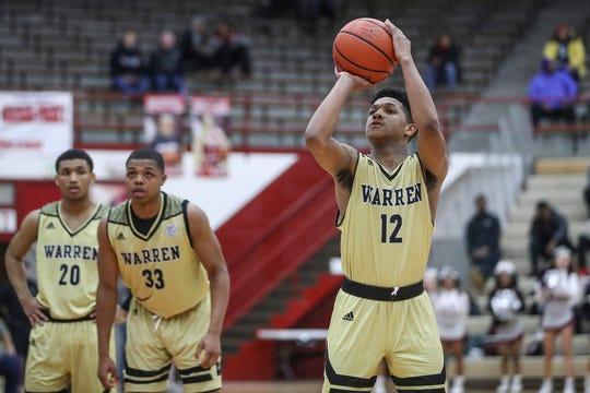 Warren Central guard Malik Stanley (12)