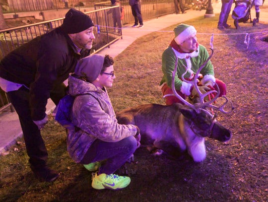 Those attending the Brighton Holiday Glow Saturday, Nov. 23, 2019 not only got to meet Santa, but several of his reindeer as well. Reindeer will be showcased in December at events in Brighton and Fowlerville.