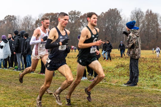 Morgan Beadlescomb at the NCAA Championships. Beadlescomb received All-American honors after finishing 23rd in the race.