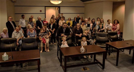 Family and friends of Adam and Jessica Sornchai filled a courtroom on May 30 at the Marion County Building to witness the final approval of the couple's adoption of Lailah and Alessandra.