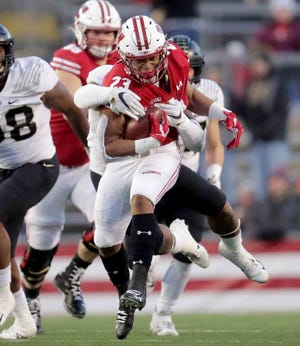 Wisconsin's Jonathan Taylor has been named the Ameche-Dayne Big Ten running back of the year for the second consecutive season.