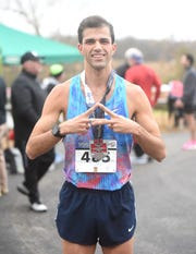 Jay Glidewell of Fort Smith won the 16th annual White River Marathon for Kenya on Saturday in Cotter.