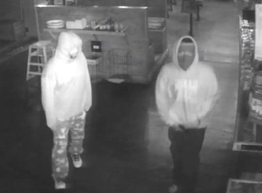 Two suspects in Edley's Bar-B-Que robbery
