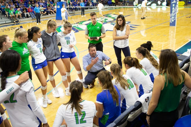 FGCU volleyball coach Matt Botsford returns plenty from the spring season team that lost in the ASUN championship match, and has added even more going into 2021.