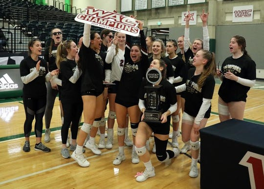New Mexico State volleyball won its second straight WAC Tournament championship.