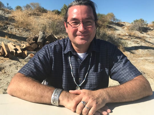 Sean Milanovich poses on tribal allottee land he owns off Gene Autry Trail in Palm Springs on Nov. 23, 2019. The land was passed down to him by his father, the late Richard Milanovich, former chairman of the Agua Caliente Band of Cahuilla Indians.
