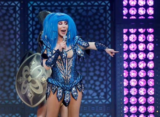 Cher performs during her Here We Go Again Tour at Gila River Arena in Glendale on Saturday, Nov. 23, 2019.