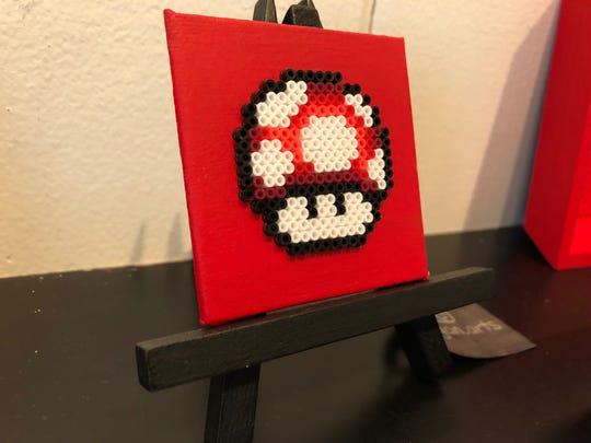 """Mushroom Mini #2"" by Danica Egan, of Lancaster, featured in ""The Mini Art Show"" at HIVE artspace, in York City, through Nov. 30, 2019."