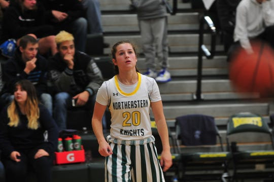 Willow Runyon (20) and Northeastern are 5-0 for the first time since at least the 2000-01 season.