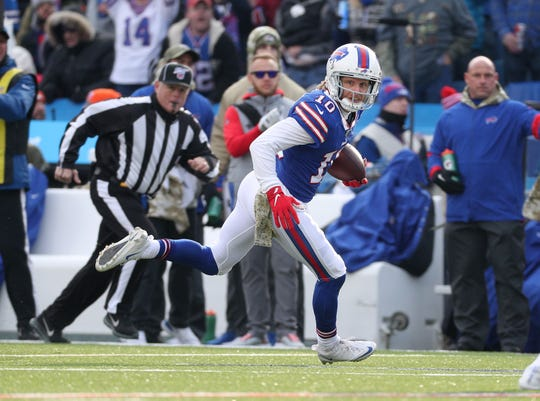 Bills receiver Cole Beasley had six receptions for 76-yards in a 20-3 win over Denver.