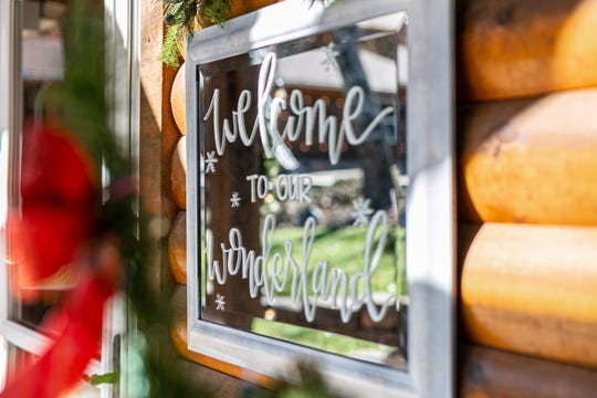 A family friend who specializes in calligraphy hand-lettered mirrors to reflect the sentiments of the season.