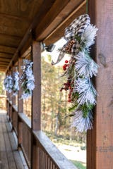 Judy, with the help of friends and family, handcrafted each bough and wreath found throughout the property.