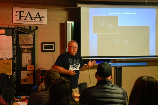 Tulare Astronomical Association member Butch Demmers gives a presentation during the star party at the Arthur Pursell Observatory on Saturday, Nov. 23.