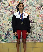 Alexa Reyna, pictured here during theSection 1 Swimming and Diving Championships at Felix Festa Middle School in West Nyack Nov. 5, 2019, won the 500 freestyle state title on Saturday.