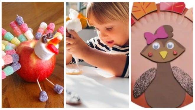 Find easy ways to entertain little ones at the Thanksgiving table.