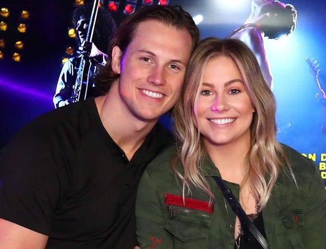 Andrew East, married to Olympic gymnast Shawn Johnson, suffered a head injury, needing nine staples.