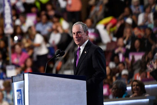 Former New York mayor Michael Bloomberg speaks on why he believes Hillary Clinton should be elected President during the 2016 Democratic National Convention at Wells Fargo Center on July 27, 2016.