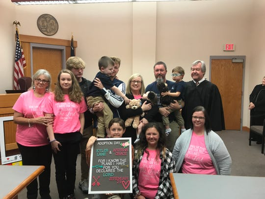 The Greenville-based Stewart Family finalized the adoption of siblings Kyler and Ariyana on South Carolina's Adoption Day, Monday, Nov. 25.