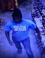 Jackson police are looking for this man, believed to have burglarized the Lucky 7 Deli on Whitesville Road.