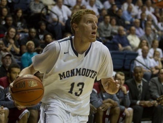 FILE PHOTO Monmouth guard Andrew Nicholas durng the 2013-14 season.