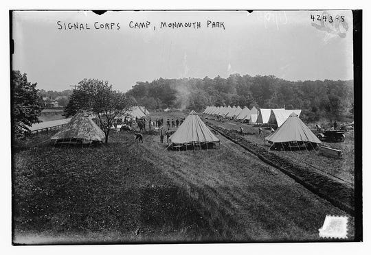 A 1917 photo shows the tent encampment at what would become Camp Vail and and later Fort Monmouth.