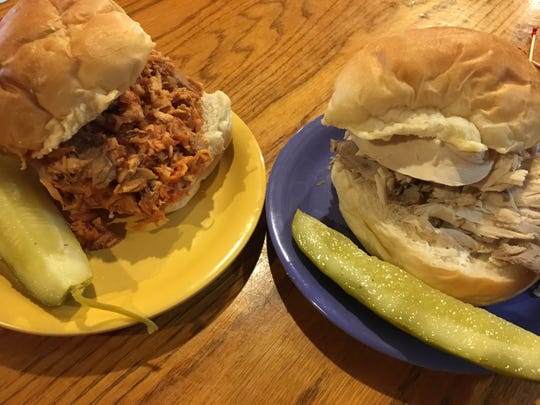 A Sloppy Tom and a Buttered Turkey Sandwich are two of the choices on the sandwich menu at Cornwell's Turkeyville.