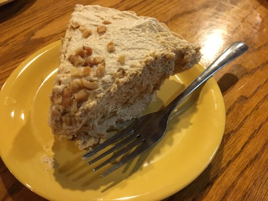 House-made pies are a big draw, like this Peanut Butter Pie, at Cornwell's Turkeyville.