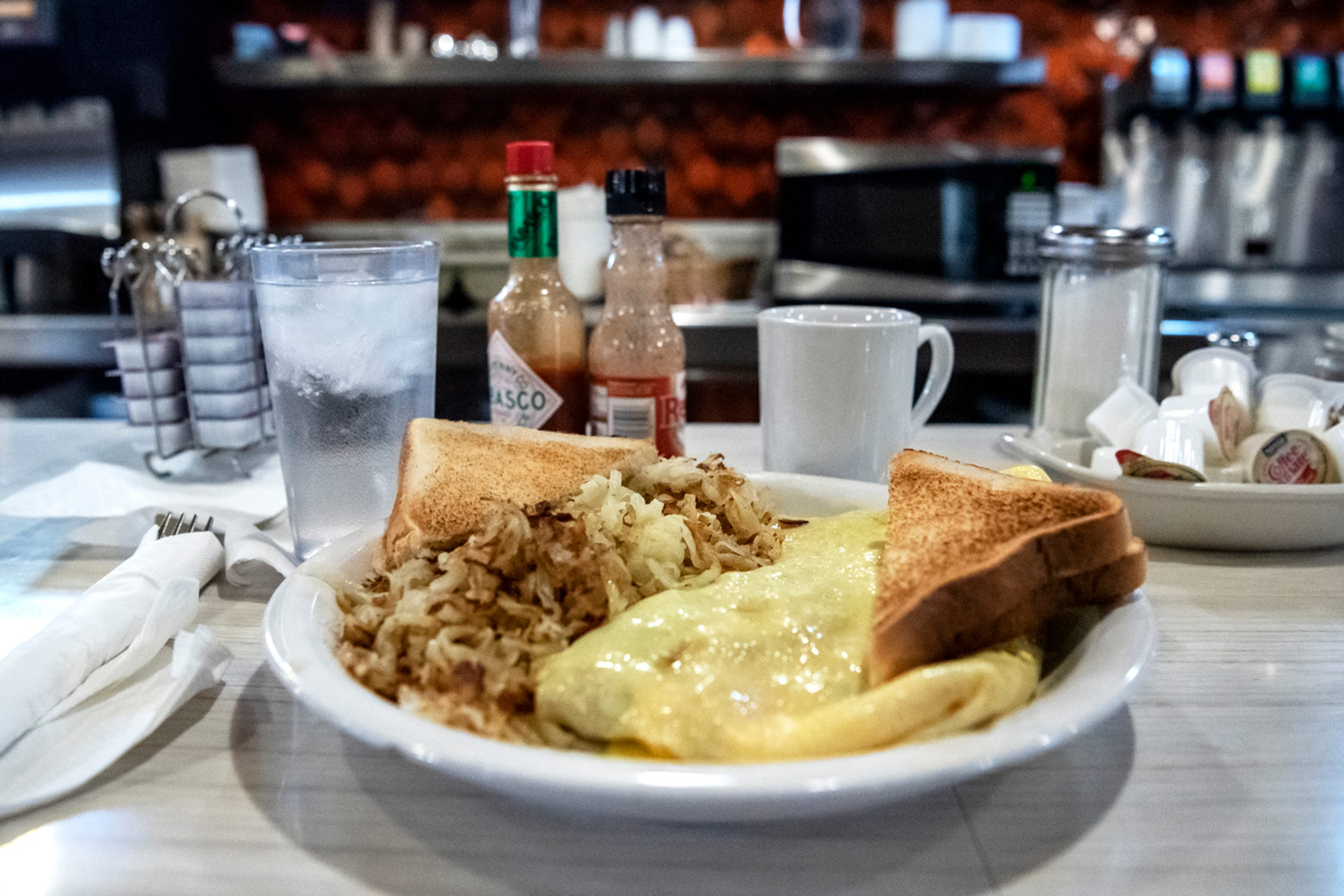 Breakfast food is pictured on Wednesday, Nov. 20, 2019 at Speed's Koffee Shop in Battle Creek, Mich.