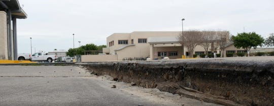 The parking lots' concrete has cracked and shifted causing safety risks and bus alignment problems, officials said. They also have deteriorated because of erosion.