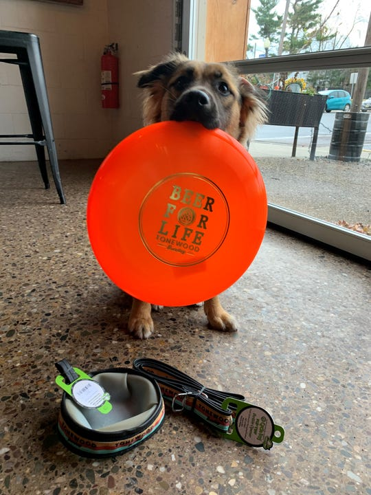 Flora has a list for Santa: A Frisbee, water bowl and dog leash from Tonewood Brewing Co. in Oaklyn.