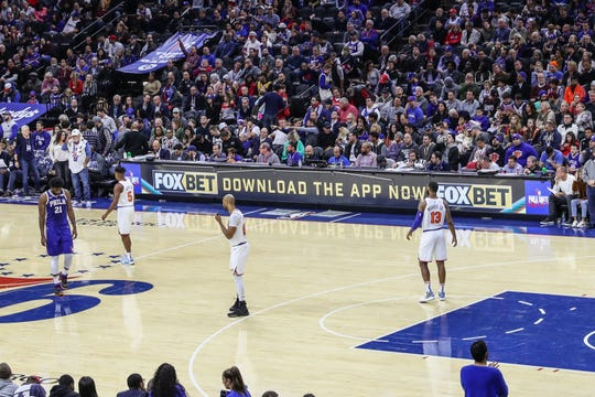 FOX Bet's logo will be more prominent at Wells Fargo Center when the Sixers take the court.