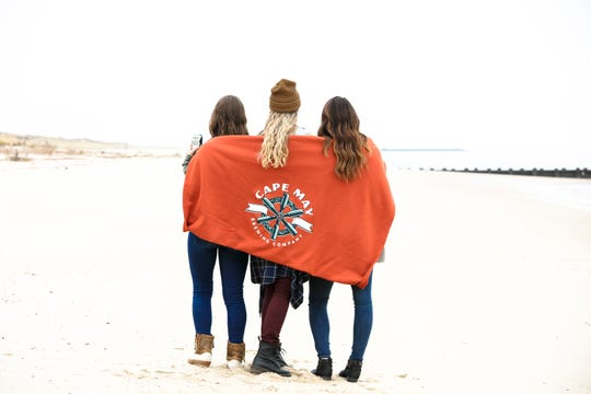 Cape May Brewing Company offers this wool blanket among their Brewtique gear.