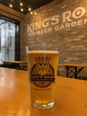 The new beer garden-style seating area inside King's Road Brewing Company in Haddonfield. The brewery is more than doubling in size and moving into a former department store.
