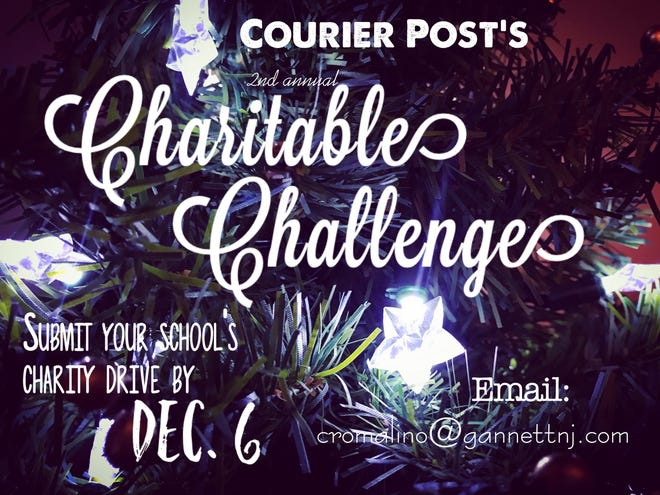 Courier Post wants to support your South Jersey school's charitable drive through the holidays. Submit a photo, video or flyer for your project to cromalino@gannettnj.com by Dec. 6, 2019 to be considered for a live broadcast. Readers votes will determine which project the Courier Post features the week of Dec. 18.  Voting opens by Dec. 10, 2019. For more details visit courierpostonline.com.