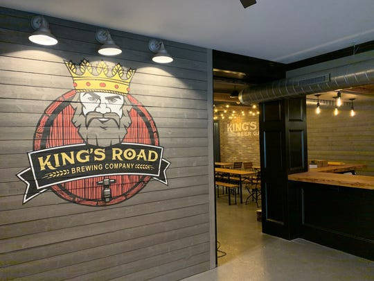 A mural painted by Bob Hochgertel, managing director of King's Road Brewing Company in Haddonfield, was moved panel by panel from the original location to the new brewery next door.