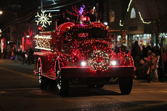 Decorated fire trucks will ride down Haddon Avenue during the Parade of Lights in Haddon Township on Dec. 6.