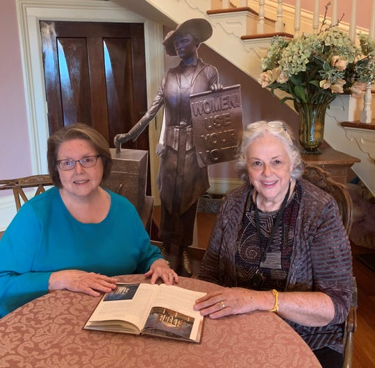 Local historians and preservationists Brenda Harper, left, and Martha Pile received the 2019 Lifetime Achievement in Heritage award from the Clarksville-Montgomery County Arts and Heritage Development Council.