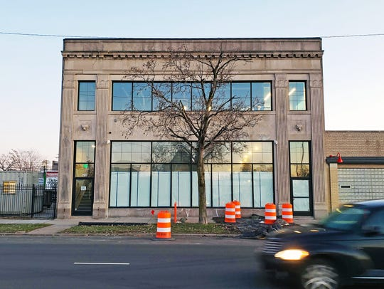 The future home of Oak + Reel, a seafood-centric Italian restaurant from lauded chef Jared Gadbaw, on East Grand Boulevard in Detroit's Milwaukee Junction neighborhood on Friday, Nov. 22, 2019.